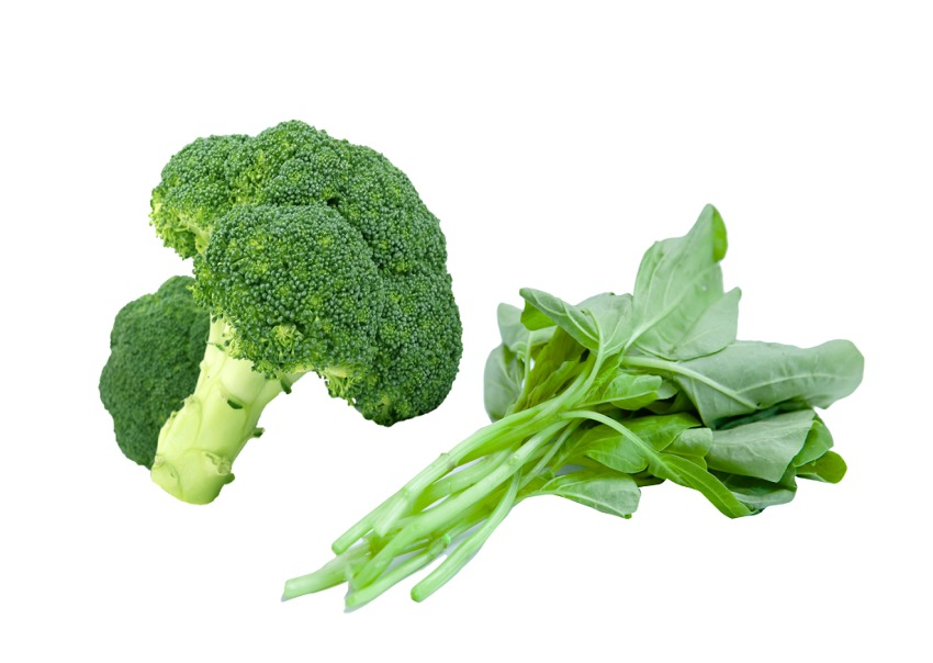 Broccoli and spinach